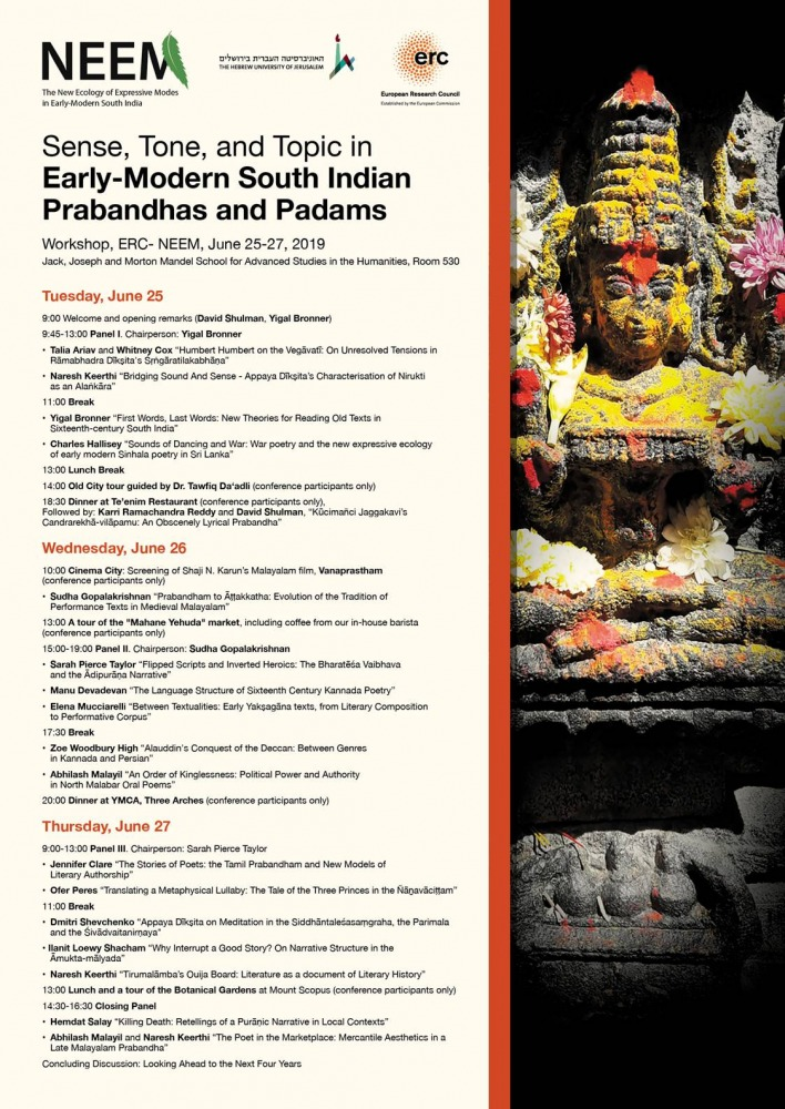 Sense, Tone, and Topic in Early-Modern South Indian Prabandhas and Padams